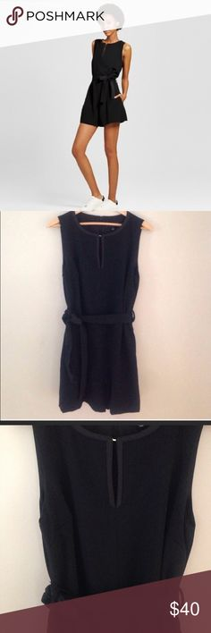Victoria Beckham Romper This Women's Black Tie Waist Romper by Victoria Beckham for Target is equal parts fun and fabulous. The 1-piece design keeps it on-trend, while the sleek style and waist tie are chic and flattering. The Victoria Beckham collection for Target celebrates the shared experiences between Victoria and her daughter. The result is a look that's fashionable, yet free-spirited and timeless. Material: 96% Polyester, 4% Spandex, Neckline Style: Keyhole, Victoria Beckham Pants…