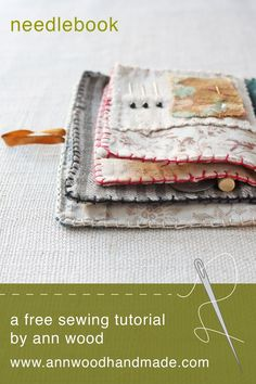 the world's sweetest needle book : a free sewing pattern – ann wood handmade Sewing Hacks, Sewing Tutorials, Sewing Crafts, Sewing Tips, Sewing Patterns Free, Free Sewing, Hand Sewing, Free Pattern, Ann Wood