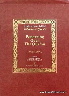 Pondering Over The Quran, pondering over the quran by amin ahsan islahi, pondering over the quran book, pondering over the quran islahi Quran In English, Quran Book, Pdf