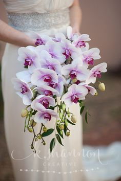 Orchid waterfall bridal bouquet, so gorgeous!                                                                                                                                                                                 Mehr