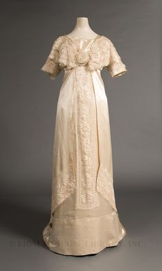 1910 Wedding gown worn by Mary Peterson Wells in Manila, Philippines.
