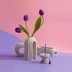 Scala Bud Vase by Extra Interior Design Plants, Plant Design, Interior Styling, Wall Mounted Planters, Hanging Plants, Ikebana, Marble Block, Roman Columns, Contemporary Vases