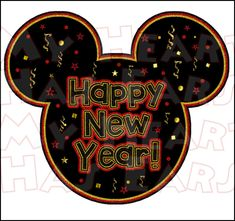 Happy New Year! From Mickey Mouse 🖤 Disney Happy New Year, Disney Very Merry Christmas, Mickey Mouse Christmas, Mickey Mouse And Friends, Disney Nerd, Disney Diy, Happy New Year Wallpaper, Holiday Wallpaper, Disney Pumpkin Carving