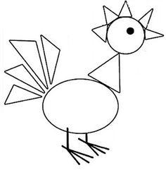 Art Drawings For Kids, Easy Drawings, Art For Kids, Kindergarten Crafts, Preschool Learning, Teaching Shapes, Printable Preschool Worksheets, Creative Arts And Crafts, Kids English
