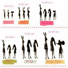 maileg sizes