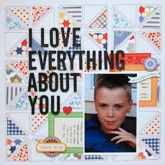 Silhouette America Blog | I Love Everything About You - Scrapbook Layout #CAMEO