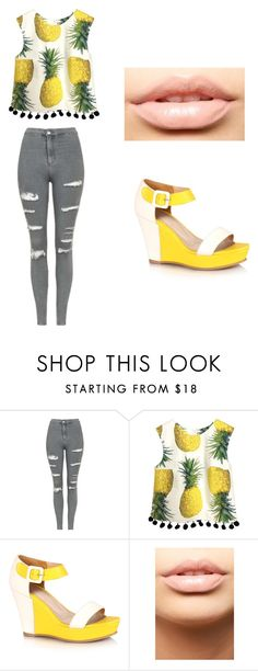 """Sem título #119"" by mariajuliaebeatriz on Polyvore featuring Topshop e MDMflow"