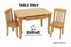 New table for the toy room. Get rid of the busted one! No more duct tape :)  Kidkraft Natural Avalon Table 26622