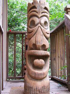 Also Carves Custom Tikis and Ships Worldwide – Schnitzerei Tiki Man, Tiki Tiki, Tiki Pole, Totem Pole Art, Tiki Faces, Tiki Statues, Tiki Decor, Tiki Lounge, Hawaiian Tiki