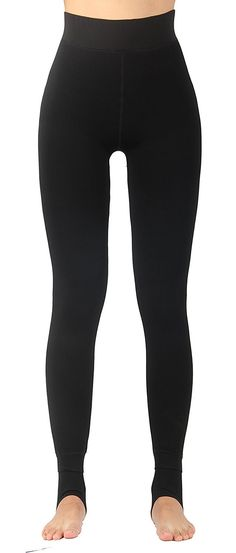 3e6d107efa74b Women's Winter Thick Faux Fur Lined Thermal Legging - Black With Purple  Waist Lining - CQ12NUY3AH4