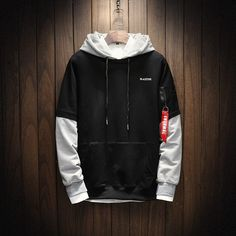 Discount This Month Cool Sweatshirt Men Hip Hop patchwork Long Sleeve Pullover Hoodies 2018 Sweatshirt hoodies Men high quality Hipster Outfits, Streetwear Mode, Streetwear Fashion, Hoodie Sweatshirts, Hoody, Mode Man, Neue Outfits, Cool Hoodies, Hoodies For Men