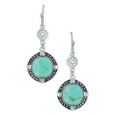Montana Silversmiths True North Turquoise Earrings ~ You will always be able to see the North Star with these earrings.