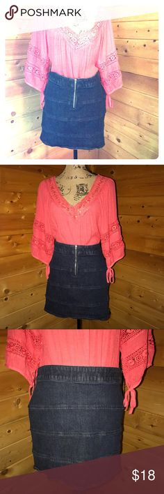 Denim Skirt -Denim Mini Skirt. 15.5 Inches Long. New York & Company. Urban Outfitters Skirts Mini
