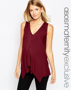 ASOS+Maternity+NURSING+Woven+Vest+With+Overlay $32.50