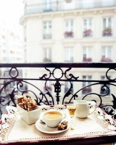 coffee vintage tea paris cafe balcony