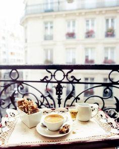 coffee vintage tea paris cafe balcony