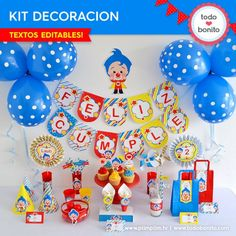 Kit decoracion de Plim Plim