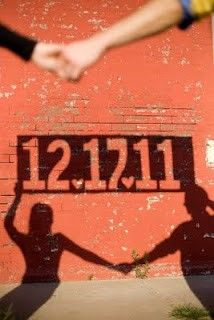 save our date shadow picture - Google Search