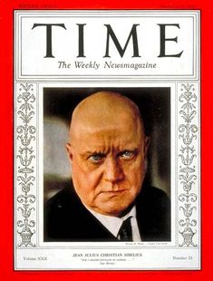 Risultati immagini per Jean Sibelius Classical Music Composers, Ode To Joy, Early Modern Period, Romantic Period, Time Magazine, Magazine Covers, The Jam Band, Tag Photo, Christmas Vacation