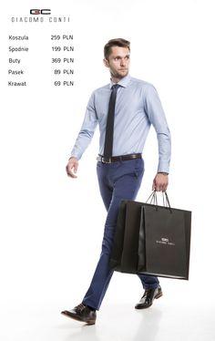 Stylizacja Giacomo Conti:  Koszula Riccardo 15/01/35, spodnie Abramo 14/61T, buty G6942.