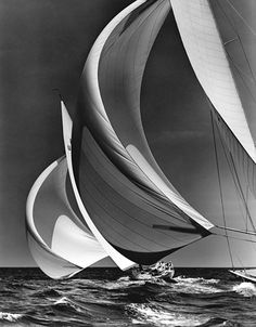 Flying Spinnakers, 1938 » © Mystic Seaport, Rosenfeld Collection. One of the…