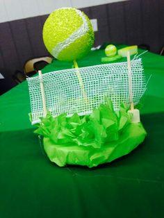 Tennis Theme Party Centerpieces