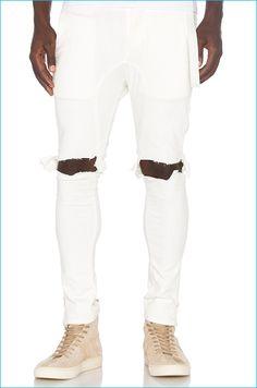 Daniel Patrick x T-Raww Natural Ripped Skinny Jeans