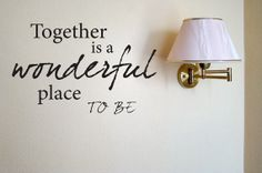 FREE SHIPPING Together is a wonderful place to by BrittneysDesigns, $12.00