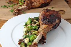 Oven Roasted Turkey Legs Shared on https://www.facebook.com/LowCarbZen | #LowCarb #Dinner