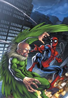 Marvel Age: Spider-Man - The Return of the Vulture Cover By Mark Brooks Marvel Comics, Marvel Comic Universe, Marvel Vs, Marvel Heroes, Spiderman Art, Miles Spiderman, Comic Villains, Marvel Characters, Horror Films