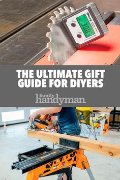 The Ultimate Gift Guide for DIYers Whether you're shopping for others or making up a wish list for yourself, help is right here. Woodworking Workshop, Woodworking Projects Plans, Woodworking Tools, Woodshop Tools, Garage Tools, Wood Tools, Diy Tools, Carpentry Skills, Easy Craft Projects