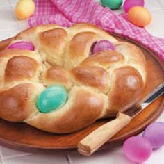 Easter Egg Bread...this will also be featured at our Easter dinner this year...made this for gifts one year, and it was RAVED over!
