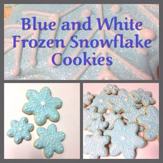 How to Make These Easy Frozen Winter Themed Blue and White Snowflake Cookies Christmas Treat Recipe Frozen Snowflake, Snowflake Cookies, White Snowflake, Snowflakes, Christmas Food Treats, Christmas Cookies, Festive Crafts, Easy Sugar Cookies, White Icing