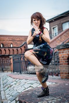 French Singer ZAZ aka Isabelle Geoffroy poses during a photo session on July 4, 2015 in Berlin, Germany.