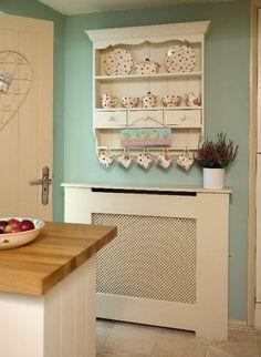 46 ideas shabby chic kitchen dresser duck eggs for 2019 Shabby Chic Kitchen Dresser, Kitchen Radiator, Lavender Cottage, Cocinas Kitchen, Country Kitchen, Country Homes, Kitchen Decor, Kitchen Ideas, Kitchen Walls