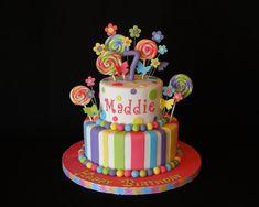 cakes by elisa birthday Pretty Cakes, Cute Cakes, Beautiful Cakes, Amazing Cakes, Lollipop Cake, Cupcake Cakes, Birthday Candy, Birthday Ideas, Girl Birthday