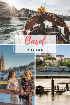 Basel can also be ideally explored from the water. For example, on board a Rhytaxi, which will take you from point A to point B. Basel, Spring Time, Attraction, Tours, Explore, City, Exploring