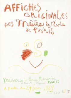 Pablo Picasso - Affiches Originales des Maitres de l'Ecole de Paris, 1959