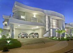 Fachadas de casas totalmente brancas, inclusive esquadrias - veja modelos lindos! - Decor Salteado - Blog de Decoração e Arquitetura