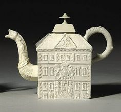 English Salt Glazed Stoneware Teapot, C.1745-50