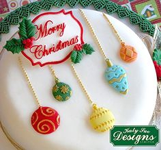 Christmas Baubles Katy Sue Designs Silicone Mould for Cake Decorating Cupcakes Sugarcraft Candies: Amazon.co.uk: Kitchen & Home