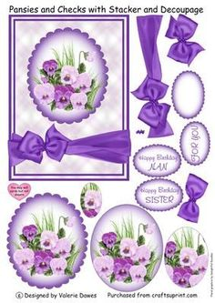free decoupage downloads for card making - Google Search