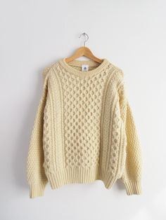 Off White Aran Sweater // Vintage Fisherman Sweater