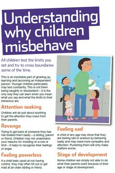 Every child misbehaves sometimes - these are some of the reasons why. For NSPCC advice on how to encourage better behaviour see our guide: http://www.nspcc.org.uk/help-and-advice/for-parents-and-carers/guides-for-parents/better-behaviour/better-behaviour_wda90710.html. Foster carers need help too!!
