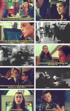 """Ziva-isms. """"If you want someone dead, you knock on there door. They answer, You shoot them, Easy"""""""