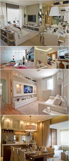 decoração apartamento pequeno cores