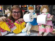 Boneca Porta Papel Higiênico! Remake!!! parte 1 - YouTube Ramadan Crafts, Decoupage Vintage, Diy And Crafts, Felt Crafts, Toilet Paper, Doll Clothes, Quilts, Dolls, Bathroom