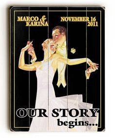 Look at this 'Our Story Begins' Personalized Wall Art on #zulily today!
