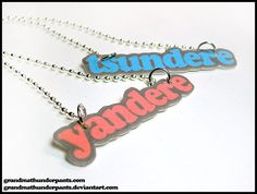 Tsundere or Yandere Necklace on Etsy, $6.00