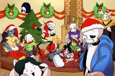 undertale sans merry christmas - Recherche Google|| Shit I just noticed GASTER in the window GOSH THAT SCARED ME!!!